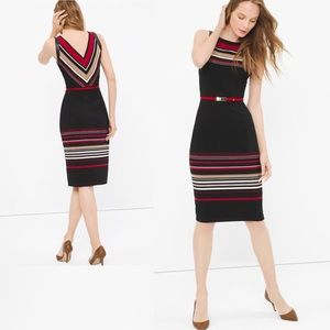 ✯NWT✯ {WHBM} Striped Sheath Dress